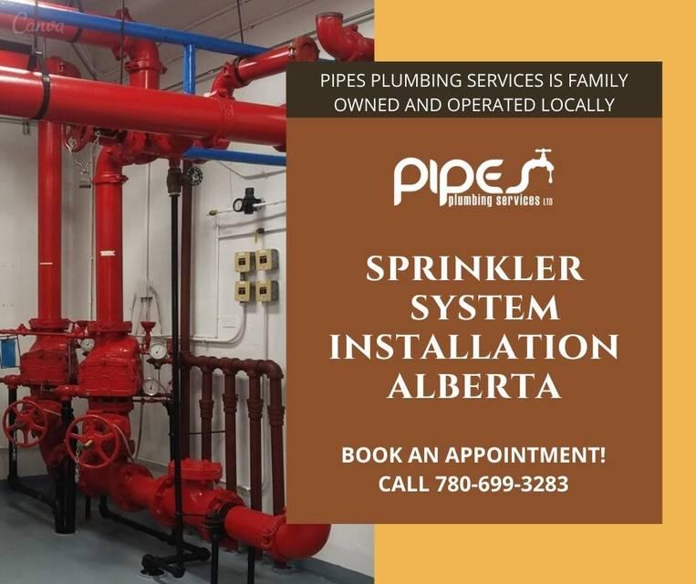 Sprinkler system installation alberta