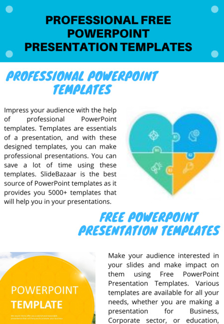 Professional free powerpoint presentation templates