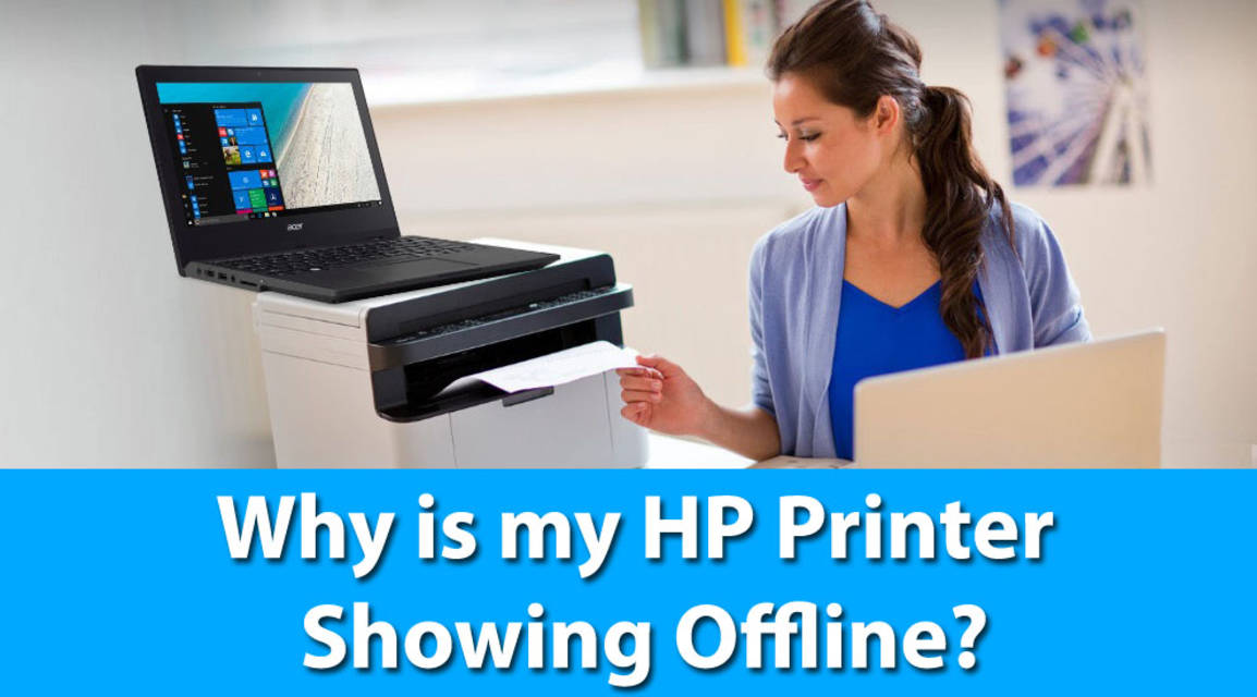 Why is my hp printer showing offline