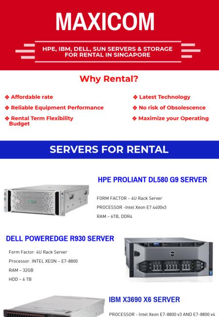Server rental  maxicom singapore