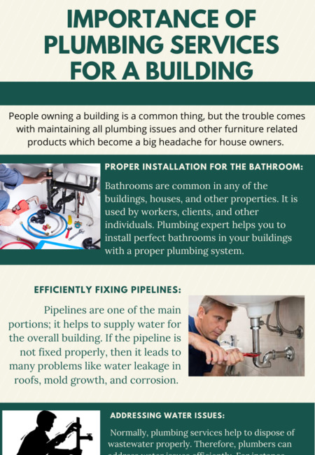 Importance of plumbing services for a building
