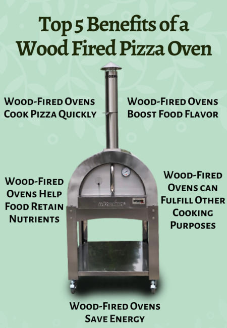 Top 5 benefits of a wood fired pizza oven