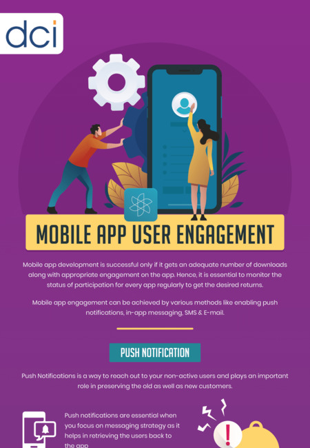 Infographic on app user engagement