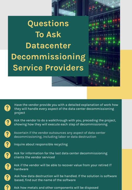 Questions to ask datacenter decommissioning service providers