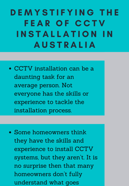 Demystifying the fear of cctv installation in australia