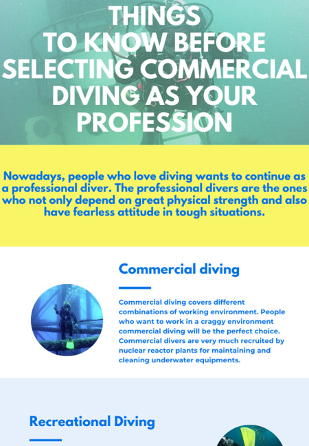 Things to know before selecting commercial diving as your profession 1500