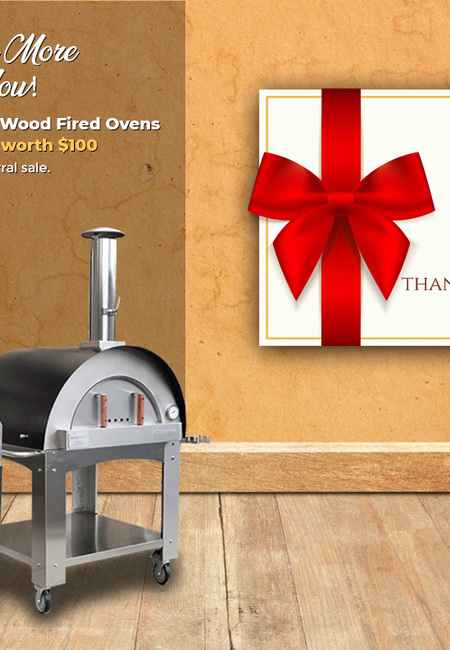 Gift card worth  100 by ilfornino wood fired oven referral program