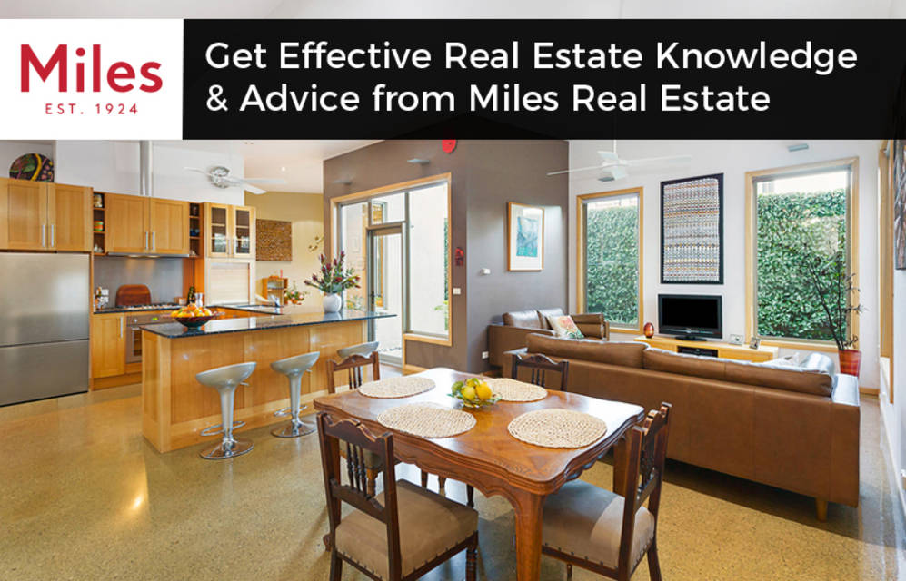 Get effective real estate knowledge   advice from miles real estate