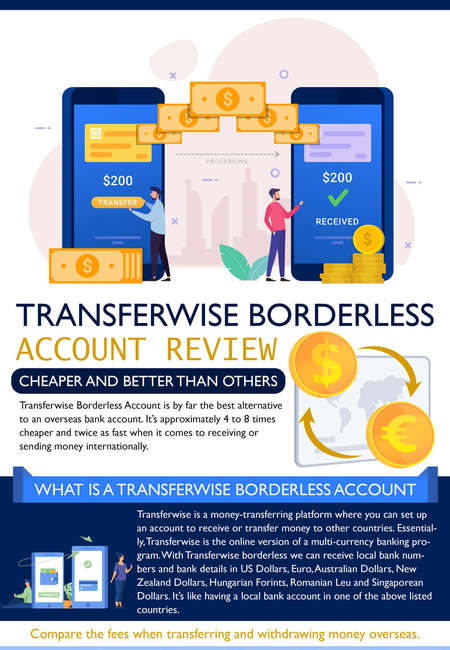 Transferwise borderless account review 2021 infographic