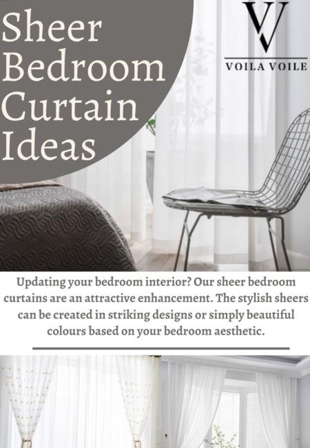 Sheer bedroom curtain ideas