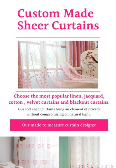 Custom made sheer curtains
