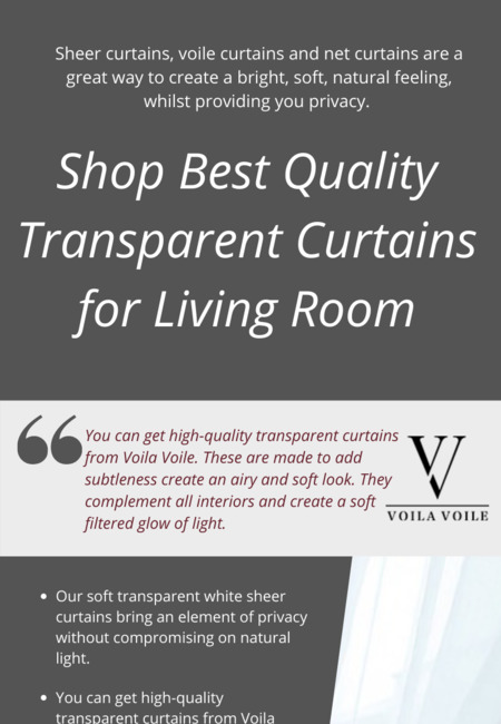 Transparent curtains for living room
